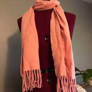 Light Pink Flannel Scarf